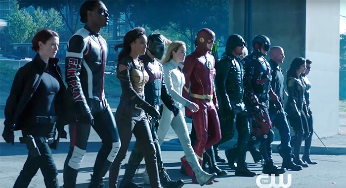 The CW 2019-2020 preview trailer screenshot - Crisis on Infinite Earths crossover event cast (The CW)