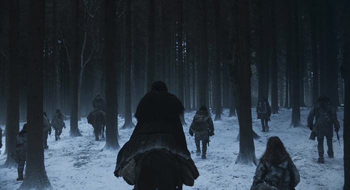 "Beyond the Wall at the end of Game of Thrones season 8, episode 6, series finale ""The Iron Throne"" (HBO)"