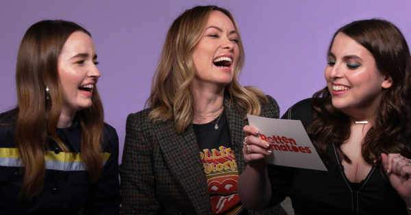 Olivia Wilde, Beanie Feldstein, and Kaitlyn Dever Play 'Name the Review'