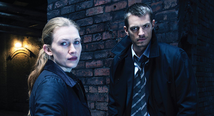 Mireille Enos and Joel Kinnaman in The Killing (AMC)