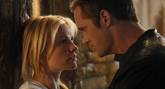 Anna Paquin and Alexander Skarsgard in True Blood (HBO)