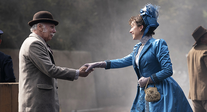 Dayton Callie, Molly Parker in Deadwood: The Movie. photo: Warrick Page/HBO