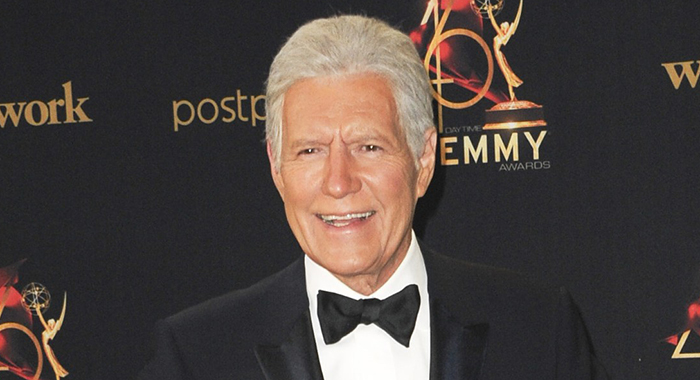 Alex Trebek in the press room for 2019 Daytime Emmy Awards - Press Room, Pasadena Civic Center, Pasadena, CA May 5, 2019. Photo By: Elizabeth Goodenough/Everett Collection