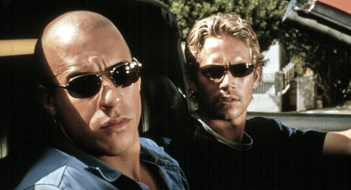 Vin Diesl and Paul Walker in The Fast and the Furious