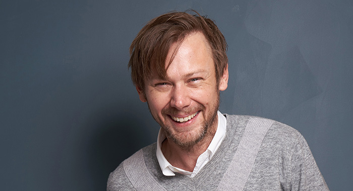 "PASADENA, CA - FEBRUARY 10: Jimmi Simpson of Epix's ""Our Lady, LTD"" pose for a portrait during the 2019 Winter TCA at The Langham Huntington, Pasadena on February 10, 2019 in Pasadena, California.  (Photo by Corey Nickols/Getty Images)"
