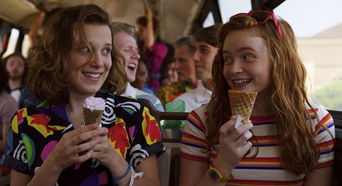 Stranger Things 3 stars Millie Bobby Brown, Sadie Sink (Netflix)