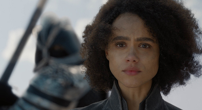 Game of Thrones s8ep4, Nathalie Emmanuel as Missandei (HBO)