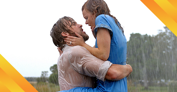 21 Most Memorable Movie Moments: A Kiss in the Rain from <em>The Notebook</em> (2004)