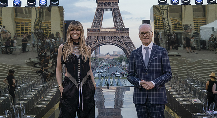 Heidi Klum and Tim Gunn in Paris for Making the Cut (Amazon Prime Video)