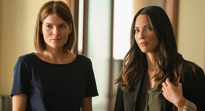 Emma Greenwell and Olivia Munn in The Rook (Steffan Hill/Starz)