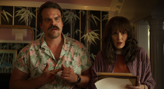 STRANGER THINGS SEASON Season 3 PHOTO CREDIT Netflix PICTURED David Harbour, Winnona Ryder