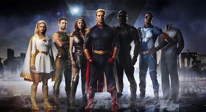 The Boys superheroes the Seven New York Comic-Con teaser trailer screencap (Amazon Prime Video)