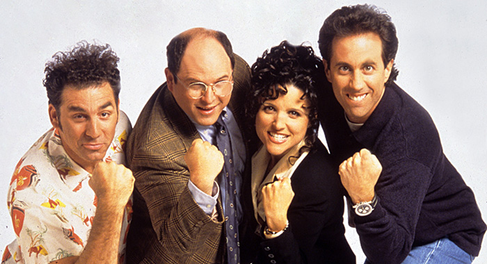 SEINFELD, Michael Richards, Jason Alexander, Julia Louis-Dreyfus, Jerry Seinfeld, 1990-1998, Season 8 (NBC)