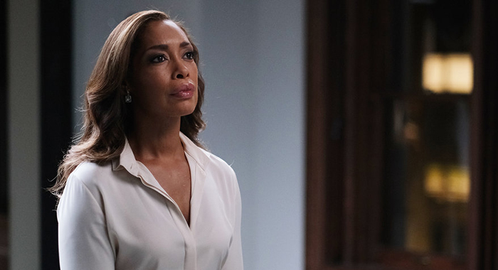 "PEARSON -- ""The Alderman"" Episode 101 -- Pictured: Gina Torres as Jessica Pearson -- (Photo by: Scott Everett White/USA Network)"