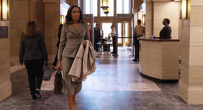 PEARSON -- Pictured: Gina Torres as Jessica Pearson -- (Photo by: Isabella Vosmikova/USA Network)