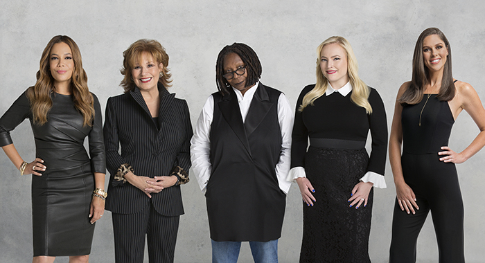 THE VIEW - SUNNY HOSTIN, JOY BEHAR, WHOOPI GOLDBERG, MEGHAN MCCAIN, ABBY HUNTSMAN, ABC Television Network. (ABC/Heidi Gutman)