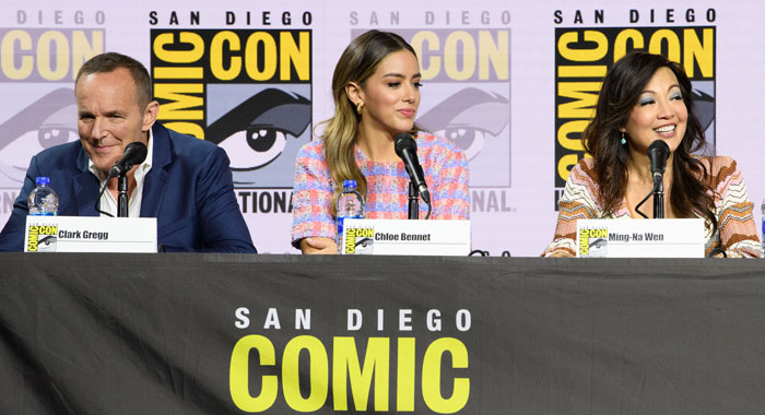 MARVEL'S AGENTS OF S.H.I.E.L.D. CLARK GREGG, CHLOE BENNET, MING-NA WEN (Image Group LA via Getty Images)