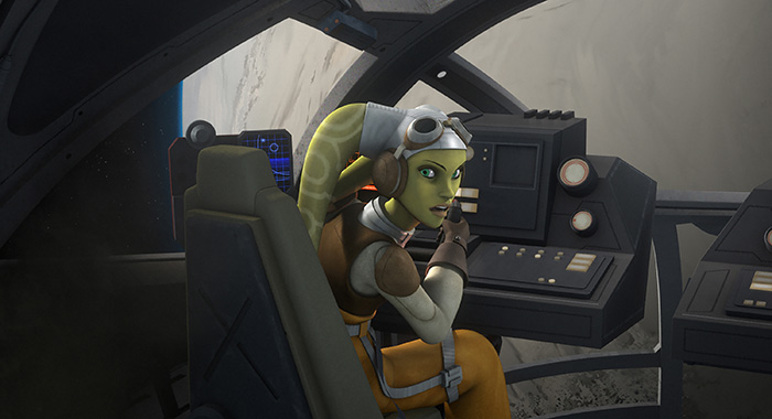 "STAR WARS REBELS - ""The Lost Commanders"" - Ahsoka sends the Rebel crew to find and recruit a war hero to their cause, but when they discover it is Captain Rex, trust issues put the mission at risk. This episode of ""Star Wars Rebels"" airs Wednesday, October 14 (9:30 PM - 10:00 PM ET/PT) on Disney XD. (Disney XD) HERA"