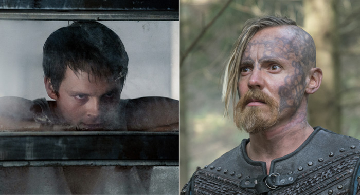 "NIGHTFLYERS -- ""All That We Left Behind"" Episode 101-- Pictured: Sam Strike as Thale -- (Photo by: Jonathan Hession/Syfy/NBCU Photo Bank via Getty Images); Vikings: Halfdan the Black (Jasper Paakkonen) from HISTORY's ""Vikings"". 'Moments of Vision' mid-season five finale airs January 24. Photo by Jonathan Hession Copyright 2019"