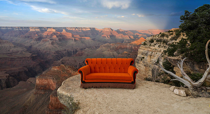 Friends couch in the Grand Canyon (Warner Bros. Productions.)