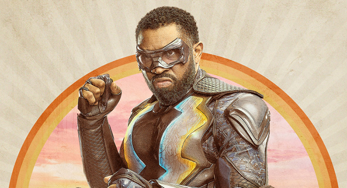Black Lightning -- Image BLK2_8x12_300dpi.jpg -- Cress Williams as Black Lightning (The CW -- © 2018 The CW Network, LLC. All rights reserved.)