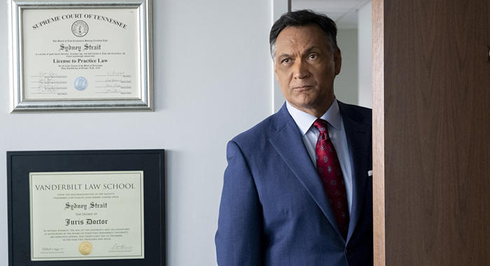 "BLUFF CITY LAW -- ""Pilot"" Episode 101 -- Pictured: Jimmy Smits as Elijah Strait -- (Photo by: Jake Giles Netter/NBC)"
