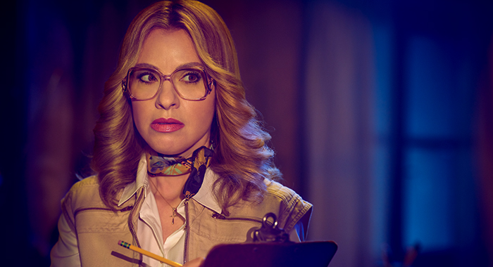 AMERICAN HORROR STORY: 1984 -- Pictured: Leslie Grossman as Margaret Booth. CR: Kurt Iswarienko/FX