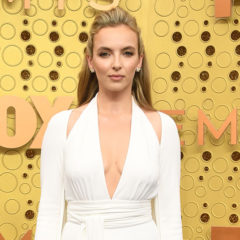 British actress Jodie Comer arrives for the 71st Emmy Awards at the Microsoft Theatre in Los Angeles on September 22, 2019. (Photo by VALERIE MACON / AFP) (Photo credit should read VALERIE MACON/AFP/Getty Images)