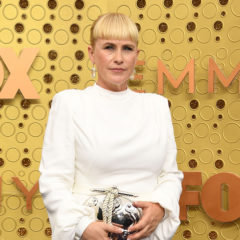 US actress Patricia Arquette arrives for the 71st Emmy Awards at the Microsoft Theatre in Los Angeles on September 22, 2019. (Photo by VALERIE MACON / AFP) (Photo credit should read VALERIE MACON/AFP/Getty Images)