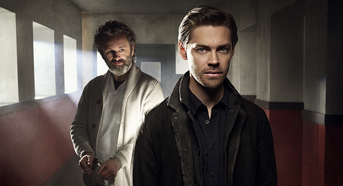 PRODIGAL SON: L-R: Michael Sheen and Tom Payne. PRODIGAL SON premieres Monday, Sept. 23 (9:00-10:00 PM ET/PT) on FOX. © 2019 FOX MEDIA LLC. Cr: Mark Seliger/FOX