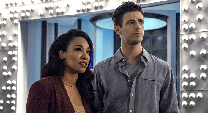 "The Flash -- ""Into The Void"" -- Image Number: FLA601a_0149ra.jpg -- Pictured (L-R): Candice Patton as Iris West - Allen and Grant Gustin as Barry Allen -- Photo: Katie Yu/The CW"