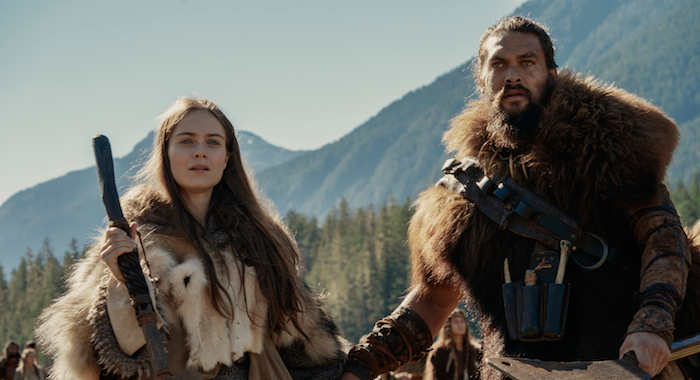 See stars Hera Hilmar and Jason Momoa (Apple TV+)