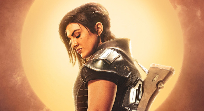 Gina Carano as ex-Rebel Cara Dune,The Mandalorian character poster (Disney+)