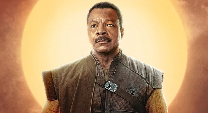 Carl Weathers as bounty hunter guild boss Greef Carga, The Mandalorian character poster (Disney+)