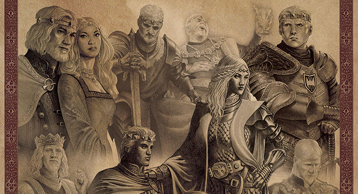 Illustration from George R.R. Martin book Fire & Blood (Bantam)