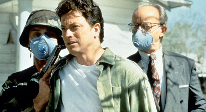 Gary Sinise (center) in 1994 miniseries THE STAND,