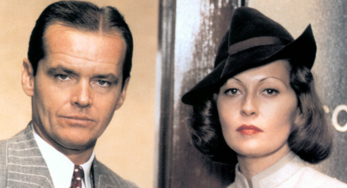 CHINATOWN, Jack Nicholson, Faye Dunaway, 1974 (Paramount Pictures)