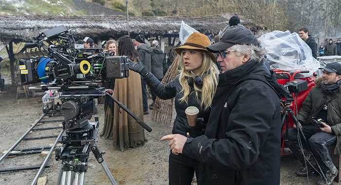 Katheryn Winnick directing on the set of HISTORY's VIKINGS_(episode 608) Photo Courtesy of Jonathan Hession and History