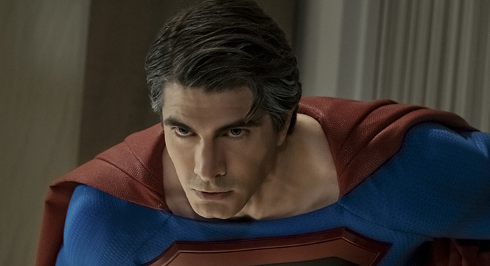 "Batwoman -- ""Crisis on Infinite Earths: Part Two"" -- Image Number: BWN108b_0224.jpg -- Pictured: Brandon Routh as Superman -- Photo: Katie Yu/The CW -- © 2019 The CW Network, LLC. All Rights Reserved."