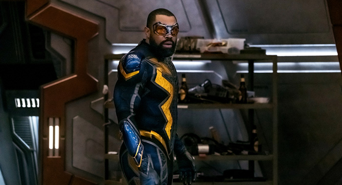 "The Flash -- ""Crisis on Infinite Earths: Part Three"" -- Image Number: FLA609a_0361b.jpg -- Pictured: Cress Williams as Black Lightning -- Photo: Katie Yu/The CW -- © 2019 The CW Network, LLC. All Rights Reserved."