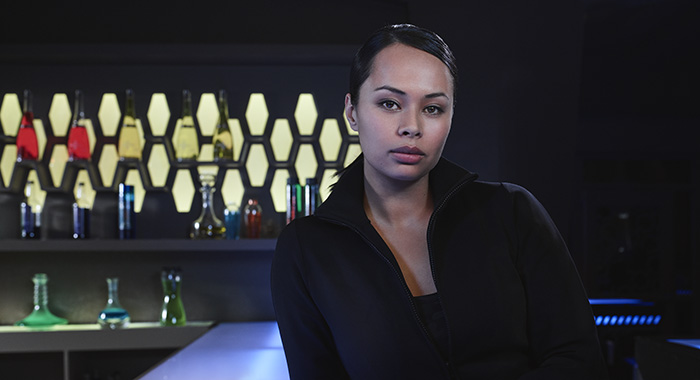Frankie Adams as Bobbie Draper in The Expanse season 4 (James Dimmock/Amazon Prime)