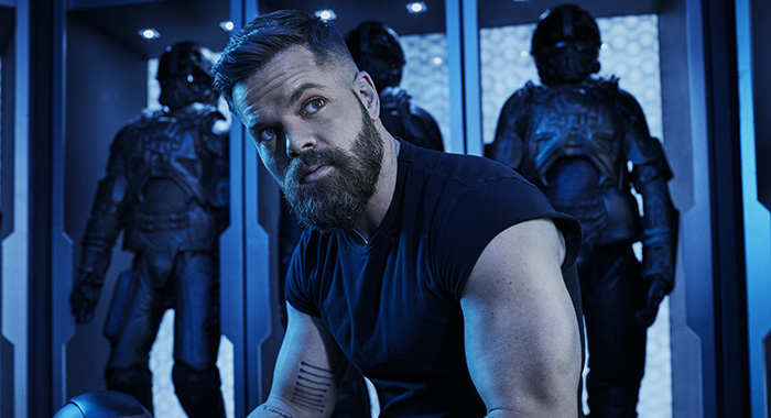 Wes Chatham as Amos Burton in The Expanse season 4 (James Dimmock/Amazon Prime)