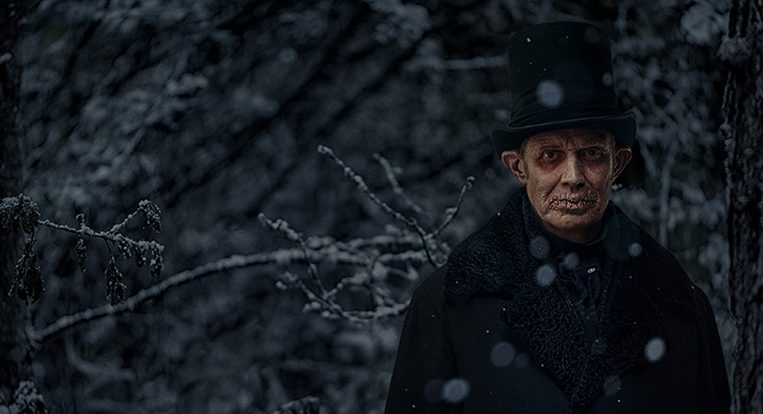 A CHRISTMAS CAROL -- Pictured: Jason Flemyng as Ghost of Christmas Future. CR: Robert Viglasky/FX