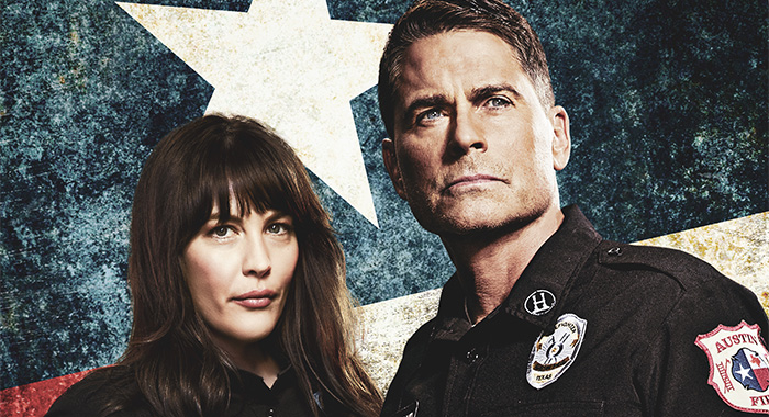 9-1-1: LONE STAR: L-R: Liv Tyler as Michelle Watts and Rob Lowe as Owen Strand in 9-1-1: LONE STAR, debuting in a special two-night series premiere Sunday, Jan. 19 (8:00-9:00 PM ET LIVE to all Time Zones), following the NFC CHAMPIONSHIP GAME; and Monday, Jan. 20 (9:00-10:00pm PM ET/PT) on FOX. ©2019 Fox Media LLC. CR: Michael Lavine/FOX.