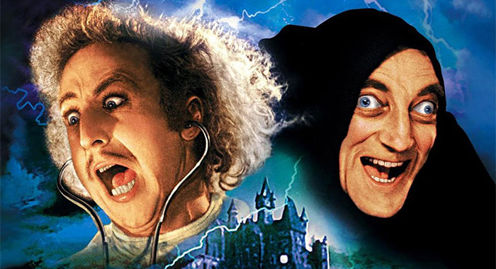 Gene Wilder and Marty Feldman in keyart for Young Frankenstein (20th Century Fox)