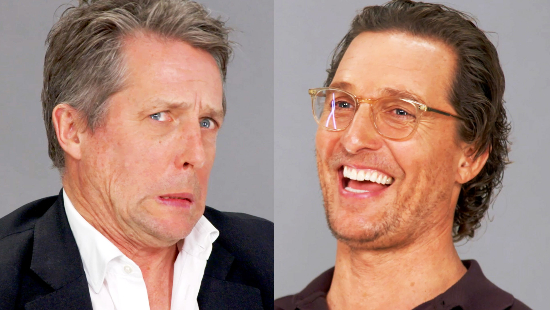 "Matthew McConaughey and Hugh Grant Face Their Critics In ""Name the Review"""