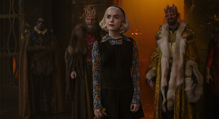 Kiernan Shipka as Sabrina in Chilling Adventures of Sabrina Part 3 (Netlfix)