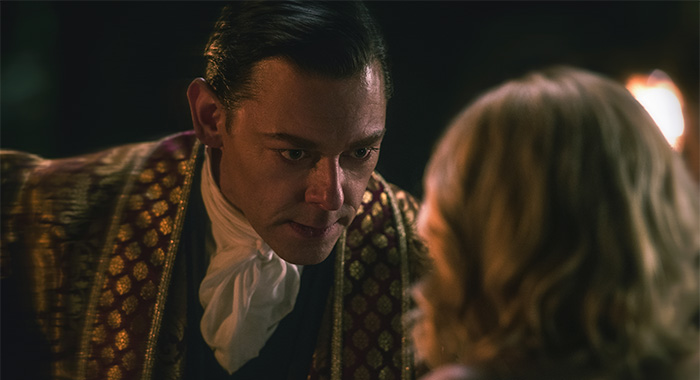 Richard Coyle as Father Faustus Blackwood in Chilling Adventures of Sabrina Part 2 (Netlfix)