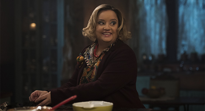Lucy Davis as Hilda Spellman in Chilling Adventures of Sabrina Part 2 (Netlfix)