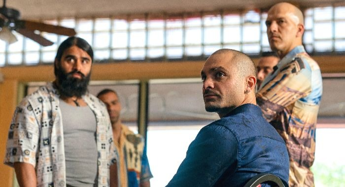Michael Mando as Nacho Varga, Efrain Villa as Carlos, KeiLyn Durrel Jones as Blingy - Better Call Saul _ Season 5 - Photo Credit: Warrick Page/AMC/Sony Pictures Television